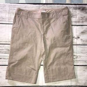 GAP khaki pinstripe Bermuda shorts